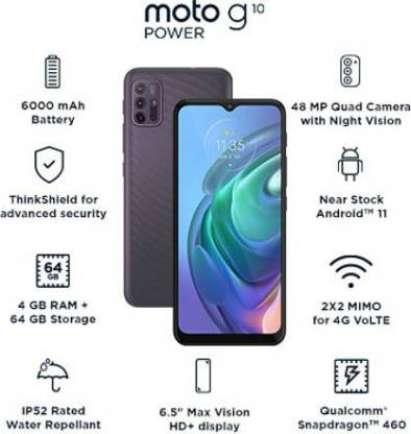 Moto G10 Power 4 GB RAM 64 GB Storage Grey