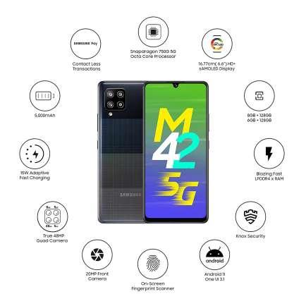 Galaxy M42 5G 6 GB RAM 128 GB Storage Black