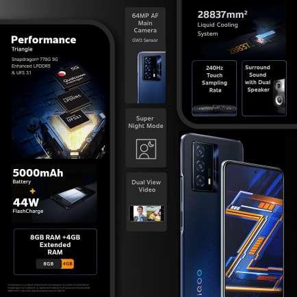 Z5 5G 8 GB RAM 128 GB Storage Black